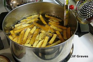 Frying fries