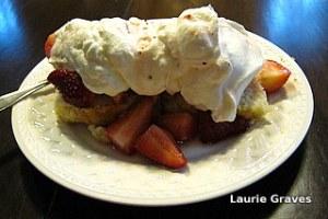 Strawberry shortcake for dessert