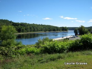The Kennebec River on a fine September day