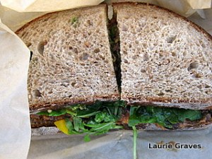That black bean sandwich!