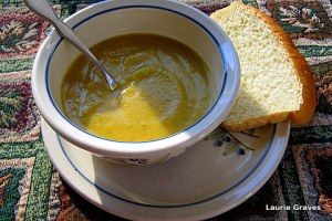 Squash soup and homemade bread