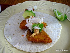Fish taco with all the fixings